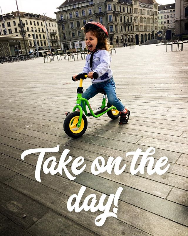 Sometimes all we need to conquer the day is a green scooter bike and a helmet... #InspireGood #TheGoodLife #WinTheDay #Bike