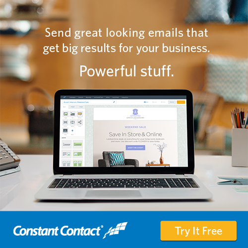 Proud Partner of Constant Contact. Start a free trial today.