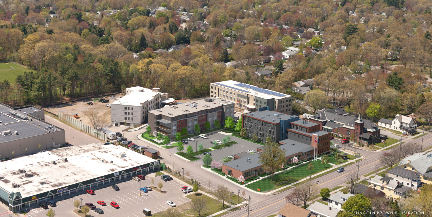 Thayer Commons: The Flats, The lofts, & The Schoolhouse