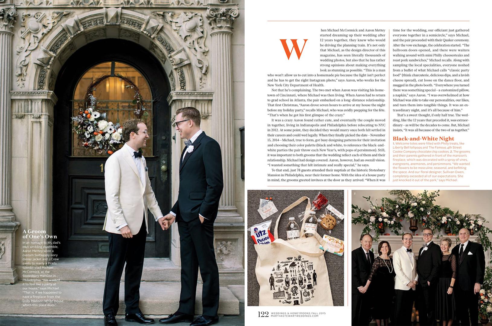 Martha Stewart Weddings Real Weddings Fall 2015
