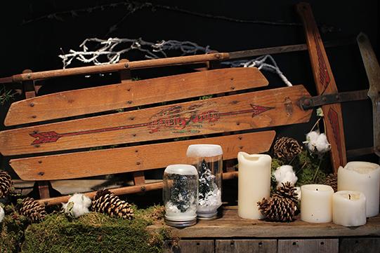Sullivan-Owen-Alison-Conklin-Terrain-Winter-Wedding-Vintage-Sled-Snowglobes