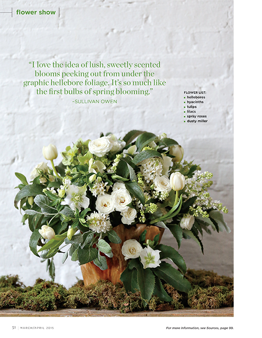 Sullivan-Owen-FlowerMagazine-April-2015-Spring-Feature-Philadelphia-Wedding-Florist-Green-White-Natural-Spring