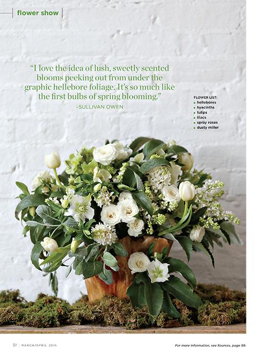 Sullivan-Owen-FlowerMagazine-April-2015-Spring-Feature-Philadelphia-Wedding-Florist-Green-White-Natural-Spring