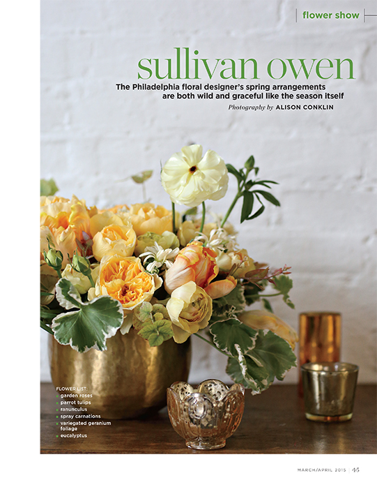Sullivan-Owen-FlowerMagazine-April-2015-Spring-Feature-Philadelphia-Wedding-Florist-Yellow