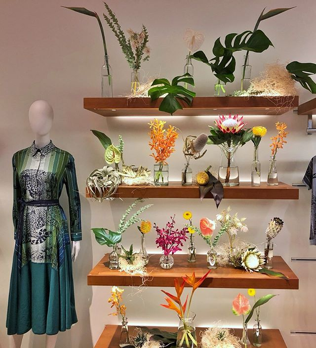 tropical specimen install at @hermes for Fall Ready to Wear at King of Prussia through the weekend