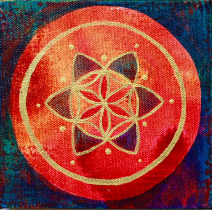"""""""Seed of Life 1""""  6"""" x 6"""""""
