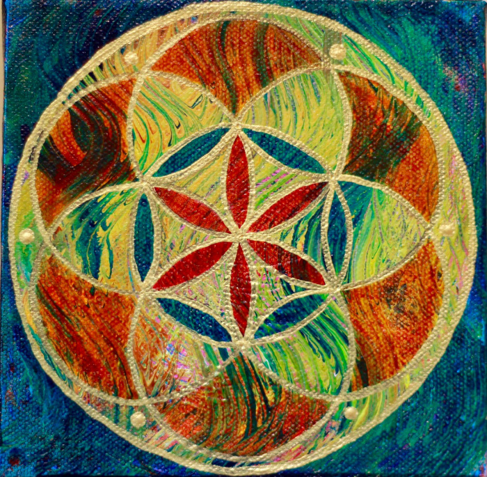 """""""Seed of Life 4"""" 6"""" x  6"""""""