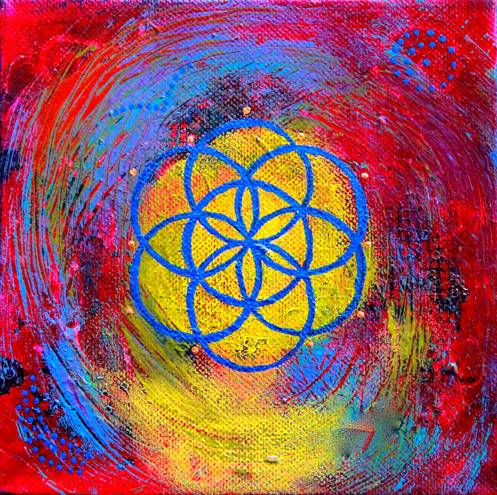"""""""Seed of Life 6""""  6"""" x 6"""""""