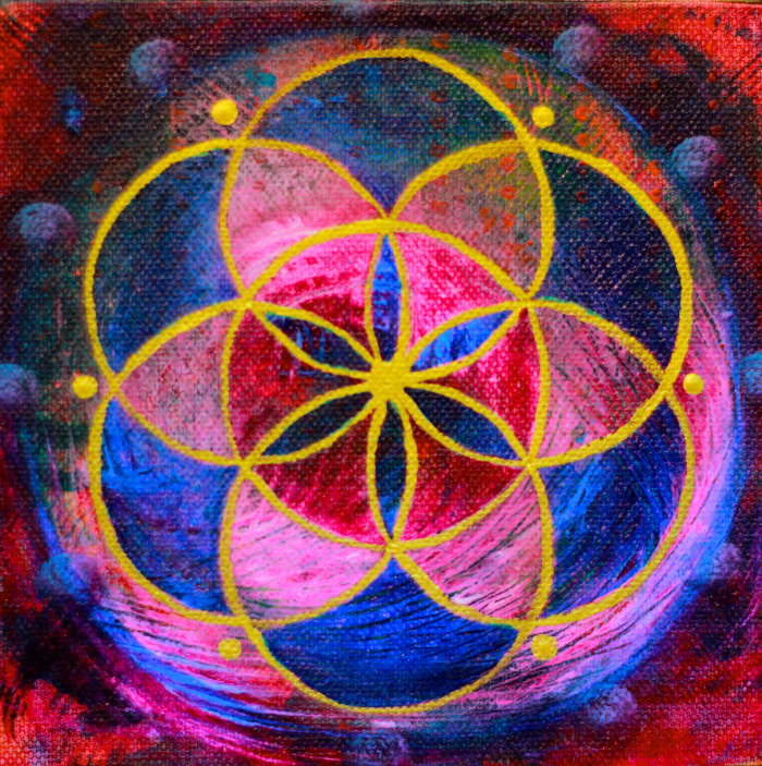 """""""Seed of Life 13"""" 6"""" x 6"""""""