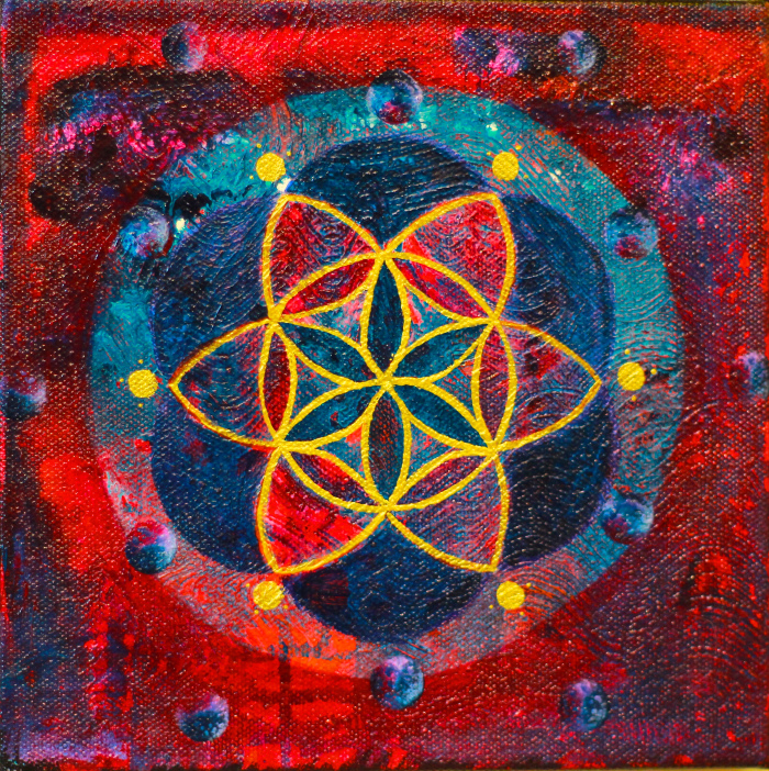 """""""Peter's Seed of Life"""" 8"""" x 8"""""""