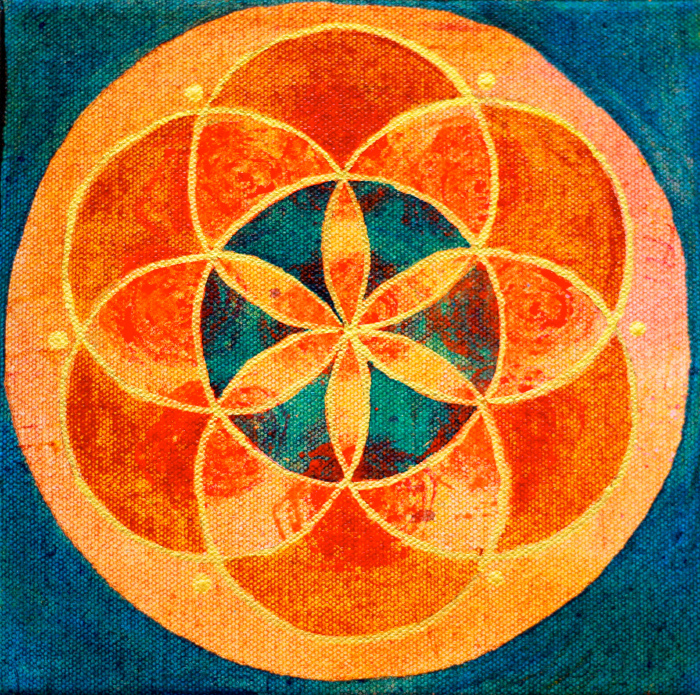 """""""Seed of Life 7"""" 8"""" x 8"""""""