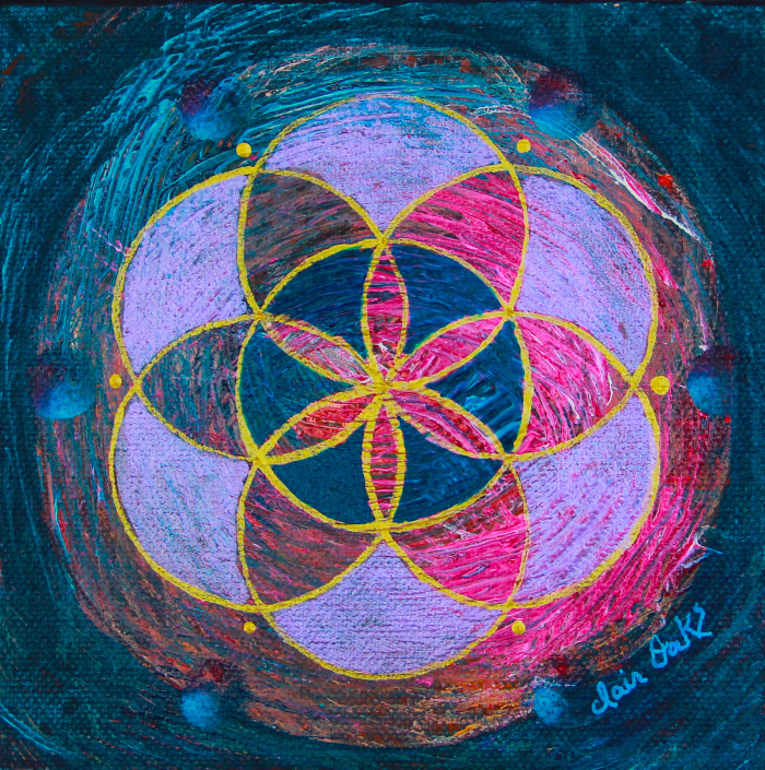 """""""Seed of Life 14"""" 6"""" x 6"""""""