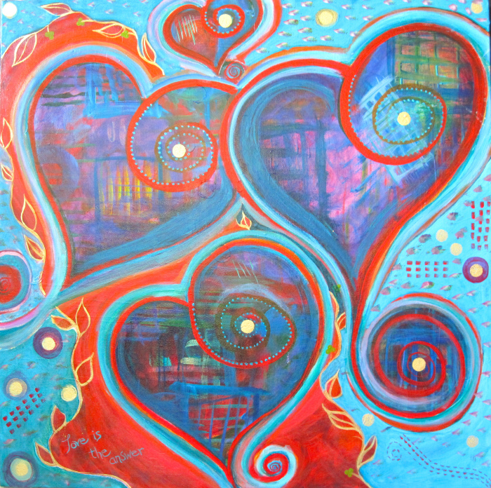 """""""Love is the Answer"""" 30"""" x 30"""""""