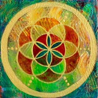 """""""Seed of Life 3"""" 6"""" x  6"""""""