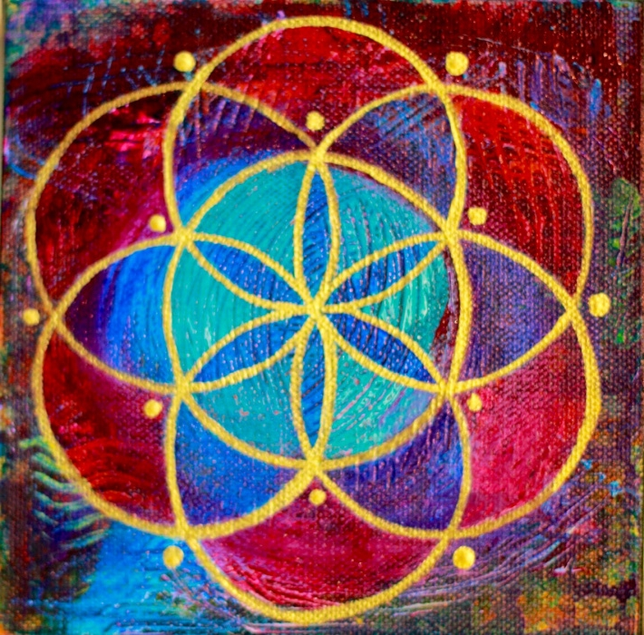 """""""Seed of Life 9"""" 6"""" x 6"""""""
