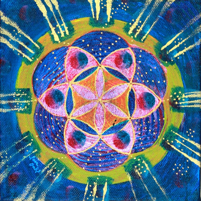 """""""Seed of Life 10"""" 6"""" x 6"""""""