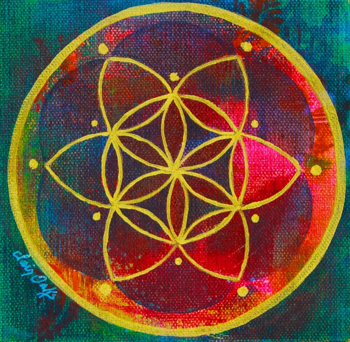 """""""Seed of Life 8"""" 6"""" x 6"""""""
