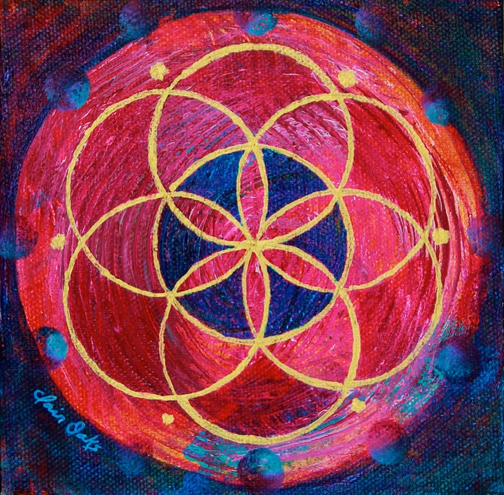 """""""Seed of Life 12"""" 6"""" x 6"""""""