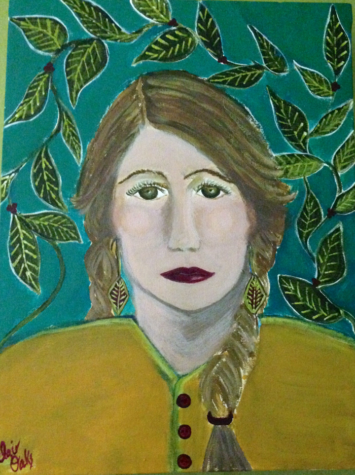 """""""Girl in the Green Room"""" 12"""" x 24"""""""