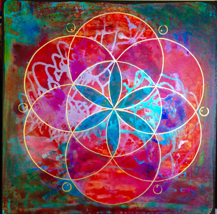 """""""Mindy's Seed of Life"""" 24"""" x 24"""""""
