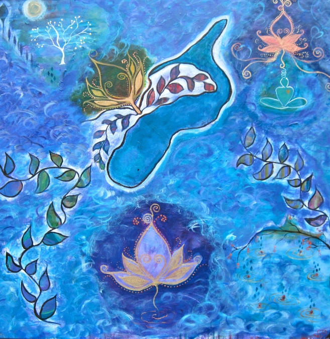 """""""Whale Song"""" 30"""" x 30"""""""