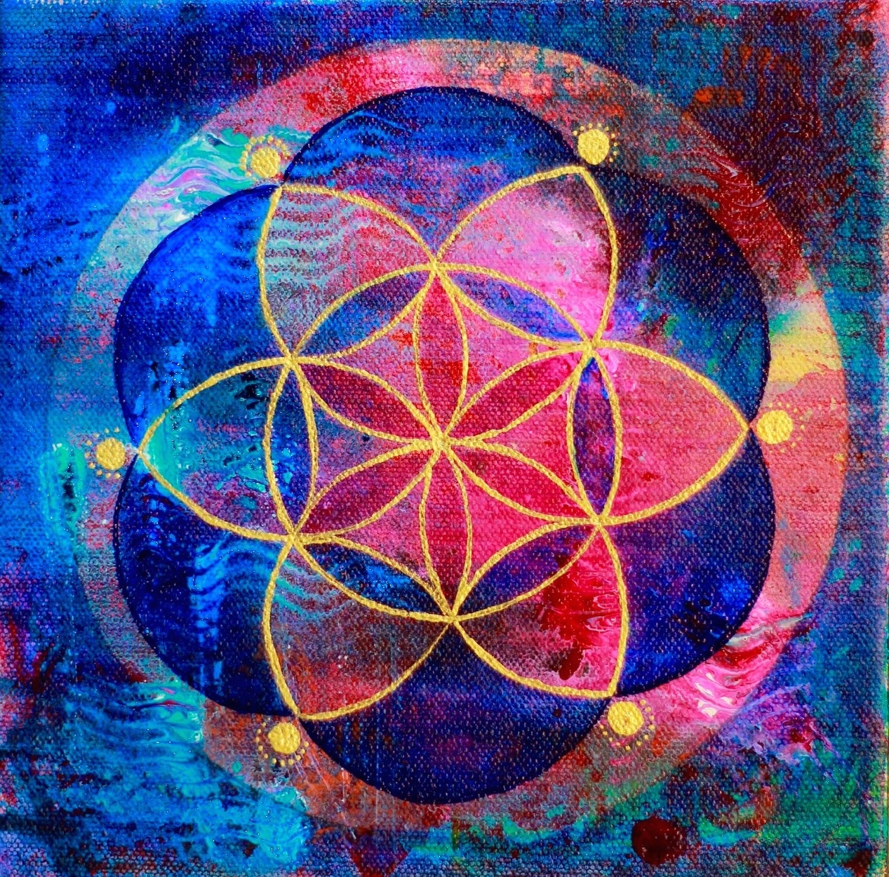 """""""Seed of Life 32"""" 8"""" x 8"""""""