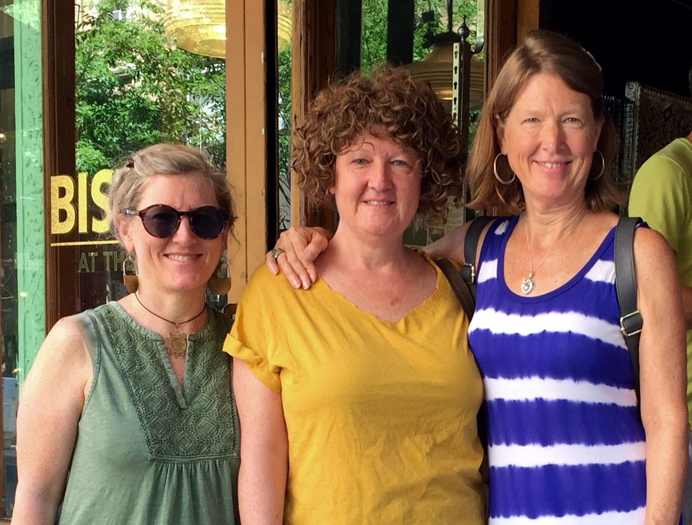 My dear sisters, Becky and Robin came to help me at the Maker's Market, June 3, 2017
