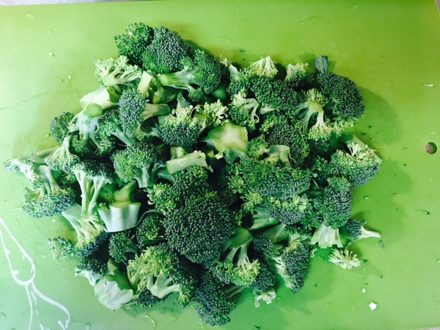 Musically inspired chopped broccoli.