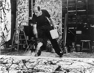 Paul Jackson Pollock by Photographer  Hans Namuth