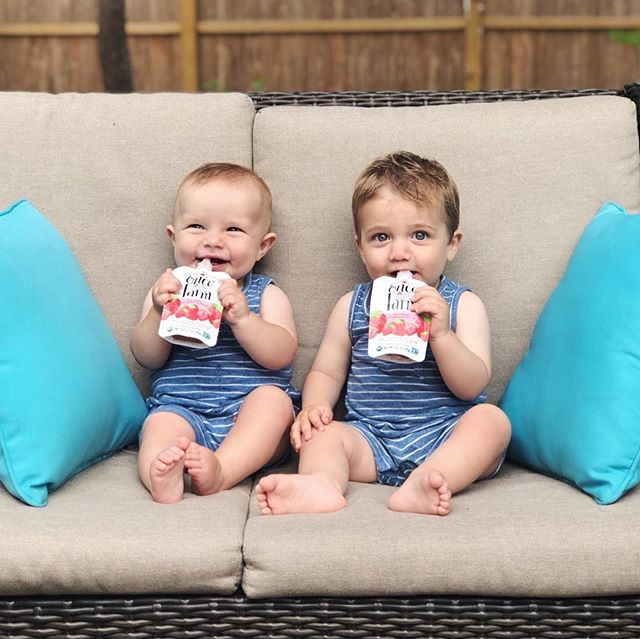 Happy 1st Birthday Frankie man! We love you so much and can't wait to celebrate! There's nothing better than sharing @onceuponafarm smoothies with your bestie 💙💙