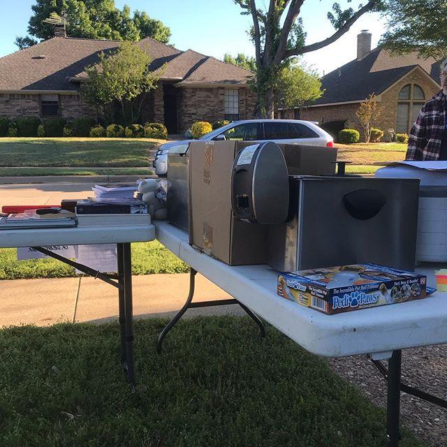 Husband signed us up for the neighborhood yard sale. Yaaaaay. 🙄😐 fun Saturday 🤪