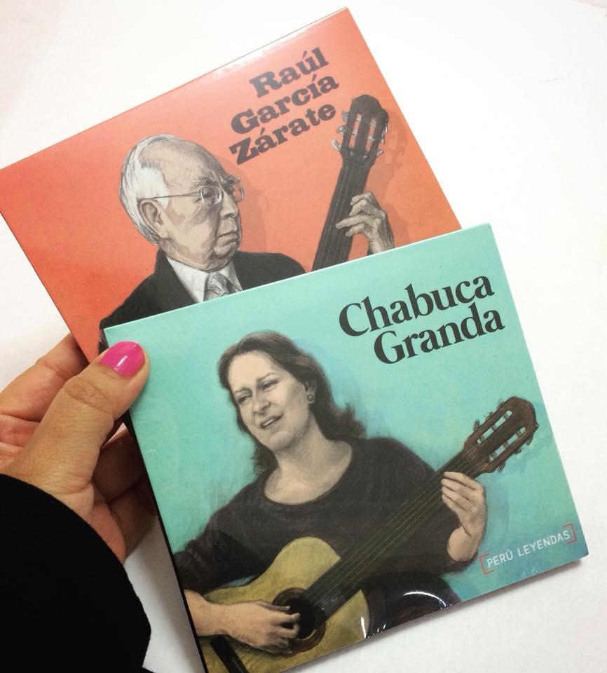 CD Colección  Perú Leyendas  Producido por PLAYMUSIC  CHABUCA GRANDA   Precio: 35 soles   RAÚL GARCÍA ZÁRATE   DISCO DOBLE Precio: 35 soles