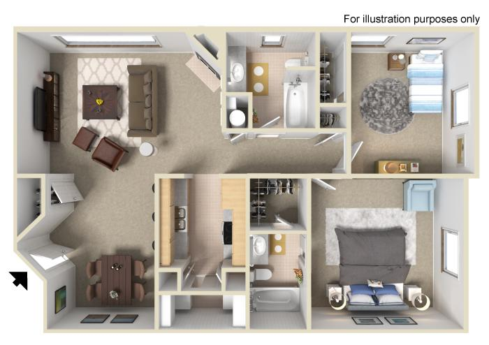 Two Bedroom | Two Bath (R5)