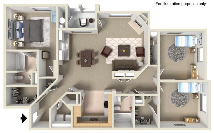 Three Bedroom | Two Bath (R7)
