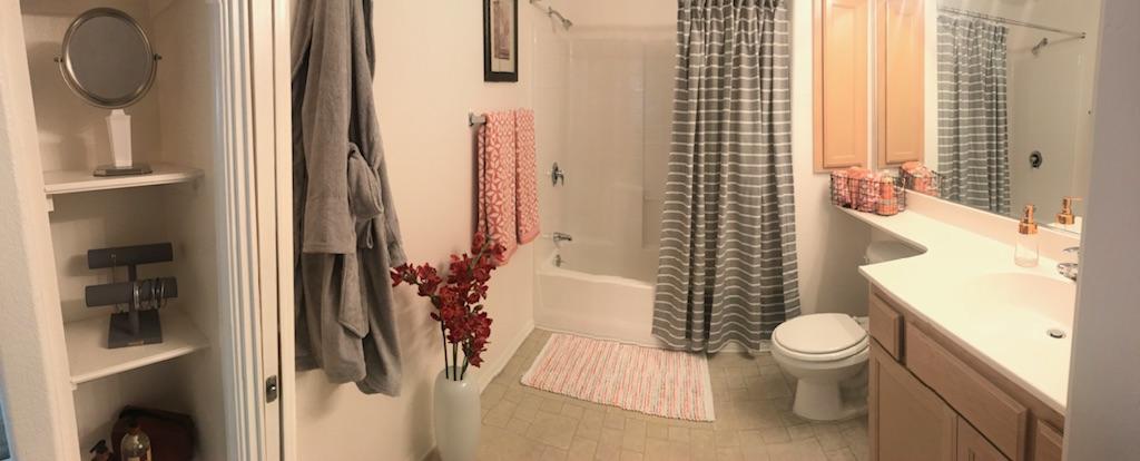 Panorama image fo bathroom