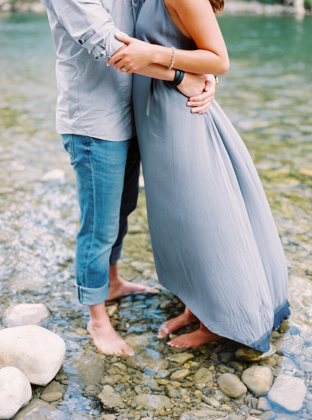 Calgary Wedding Photographers | Downtown Calgary Engagement Session | Mission River Session | Ducks Engagement Photography