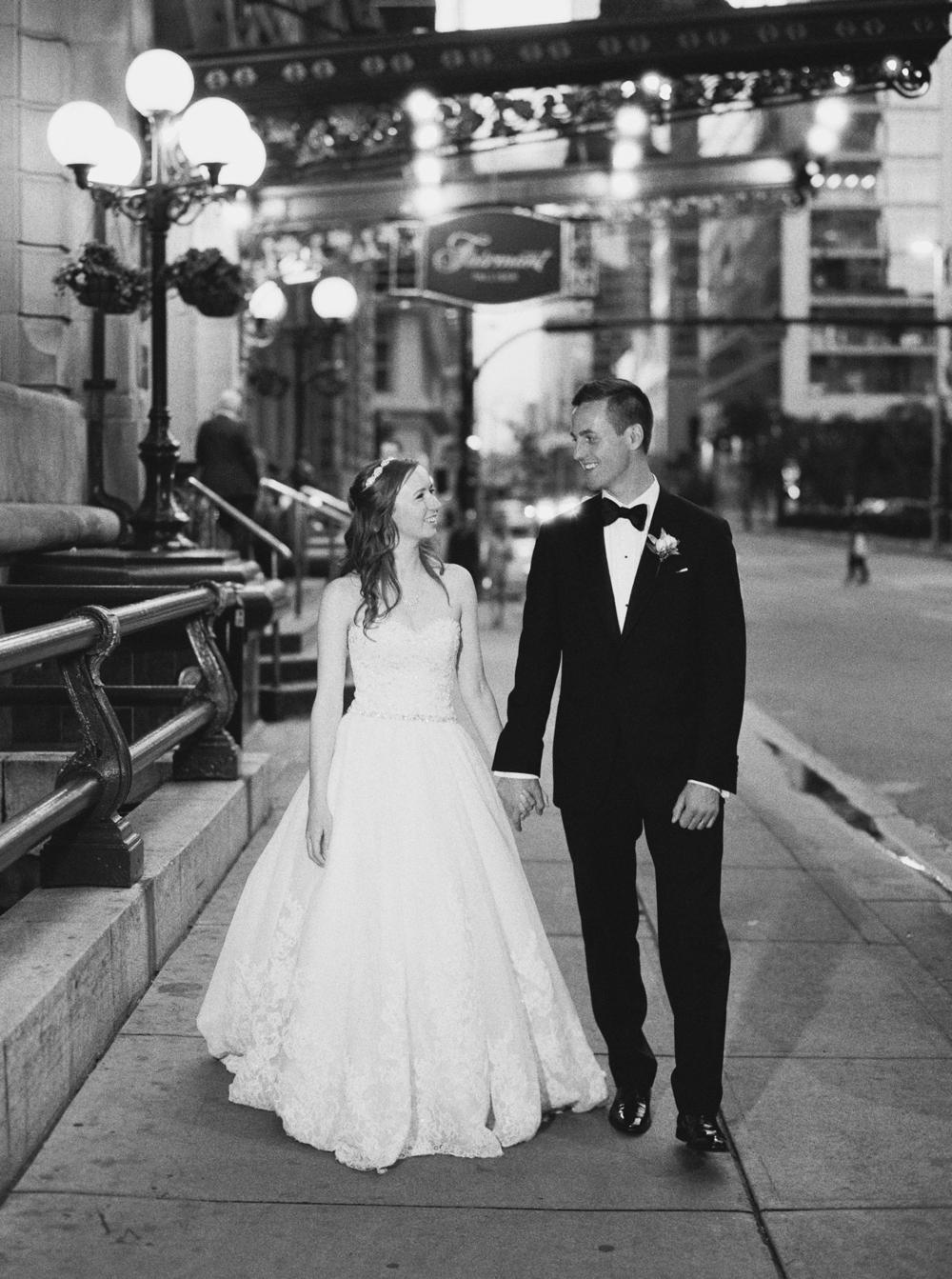 Calgary Wedding Photographer | Canmore Wedding Photographers | Banff Wedding Photography | Fairmont Palliser | Calgary Church | Blue bridesmaids