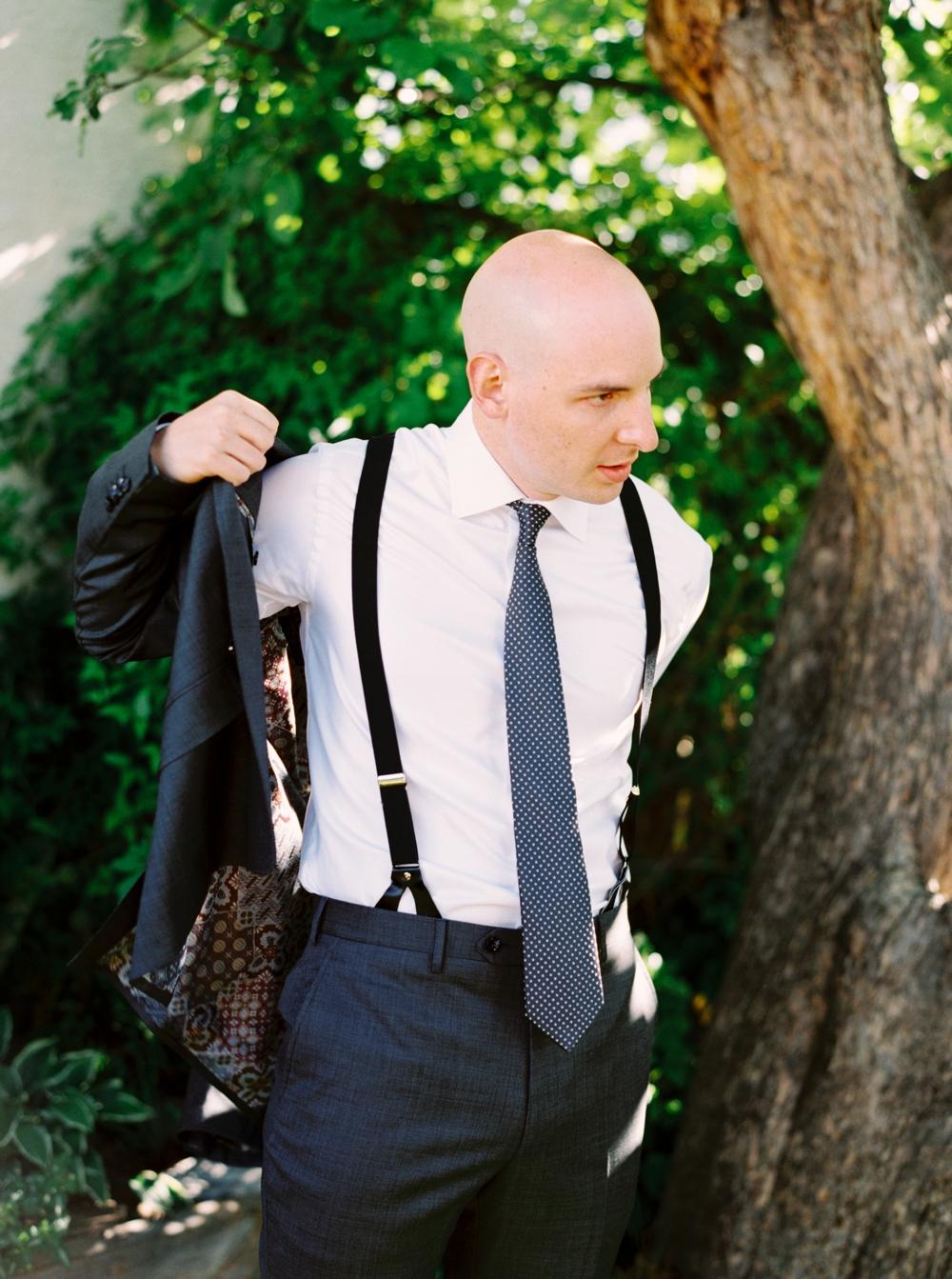 Calgary Wedding Photographer | Meadow Muse Pavilion Wedding | Canmore Photographers | Groom getting ready
