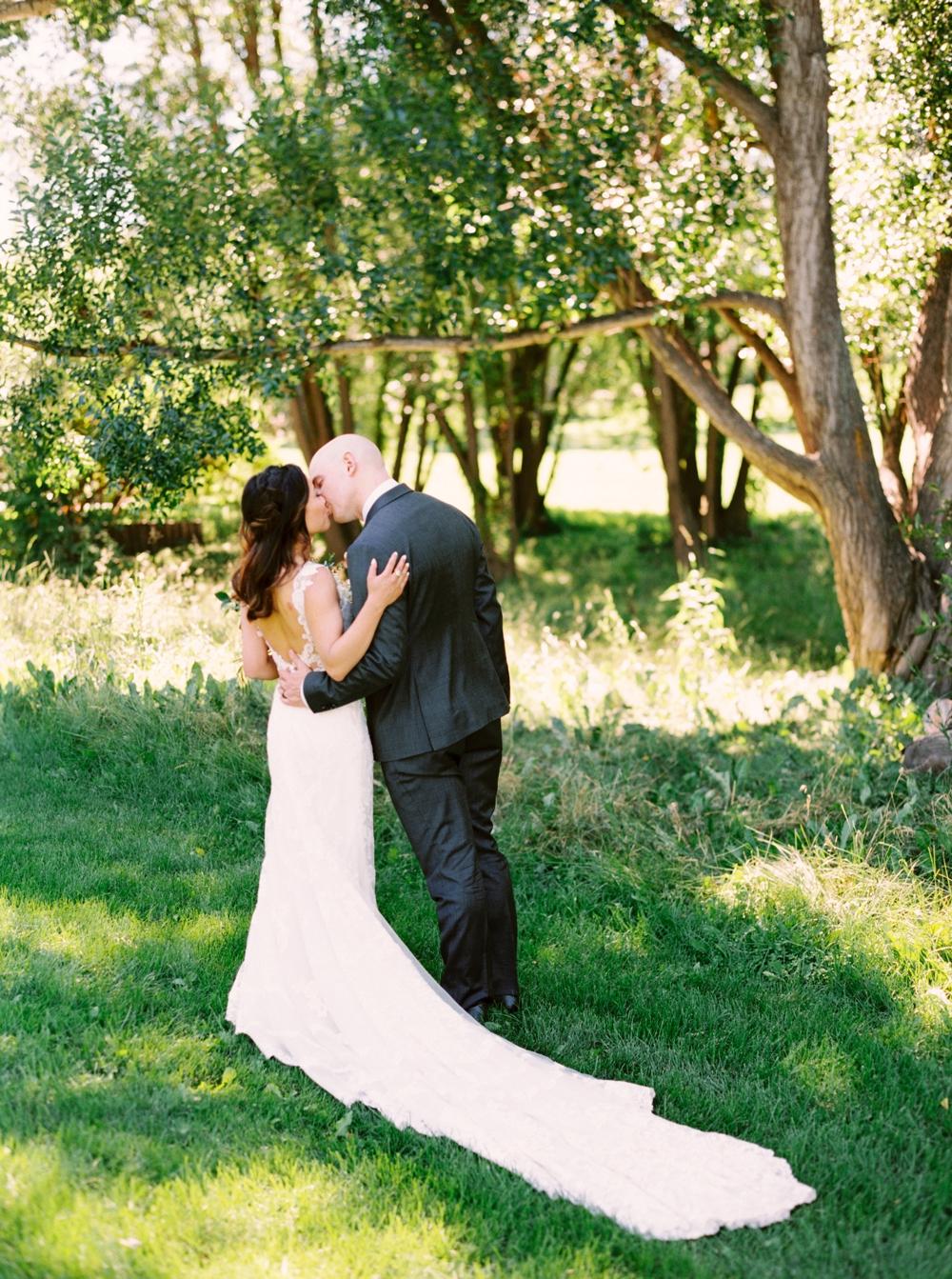 Calgary Wedding Photographer | Meadow Muse Pavilion Wedding | Canmore Photographers | Fish Creek Park | Bride & Groom
