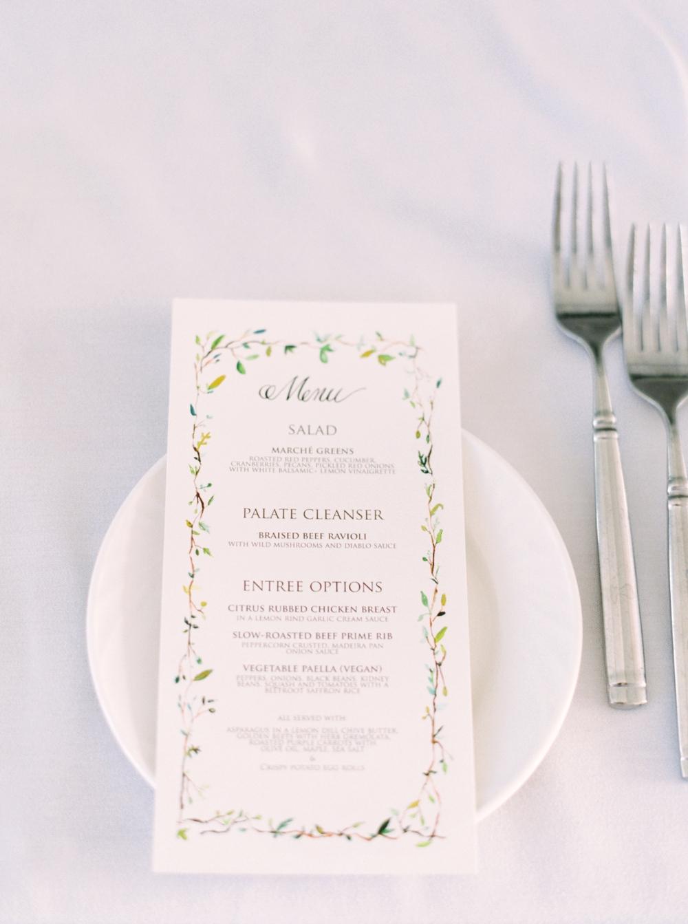 Calgary Wedding Photographer | Meadow Muse Pavilion Wedding | Canmore Photographers | Fish Creek Park | calligraphy menu