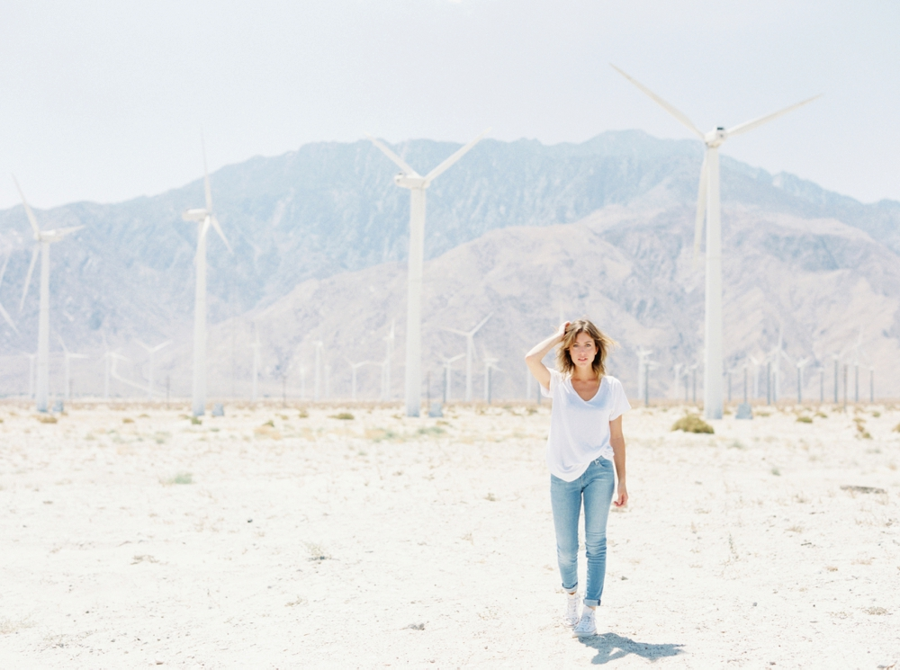 Life Set Sail in Palm Springs | Calgary Wedding Photographers | Wind Turbines | Fashion Photography