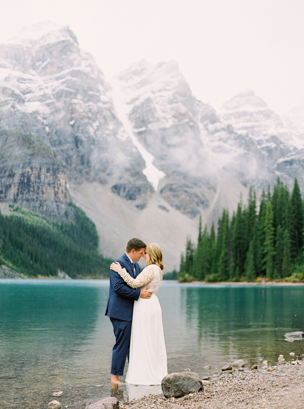Moraine Lake Anniversary Session | Calgary Wedding Photographers | Banff Wedding Photography | Engagement Session | Rocky Mountains