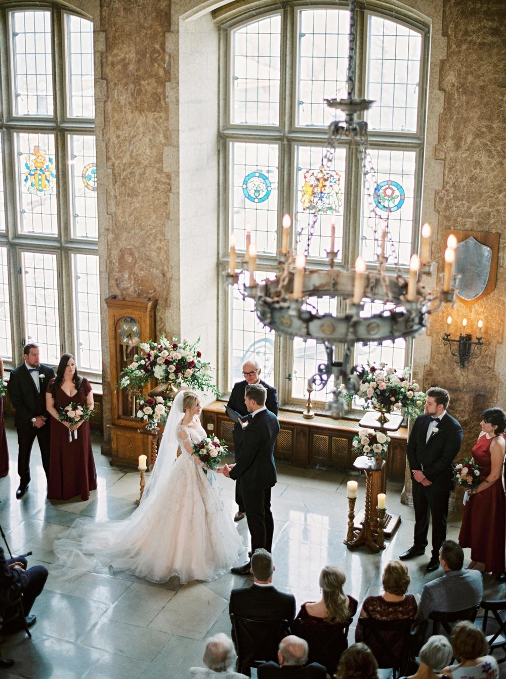 Calgary Wedding Photographers | Banff Wedding Photographer | Fairmont Hotel Banff Springs Hotel | Winter Wonderland Wedding | Mt Stephen Hall Banff Wedding