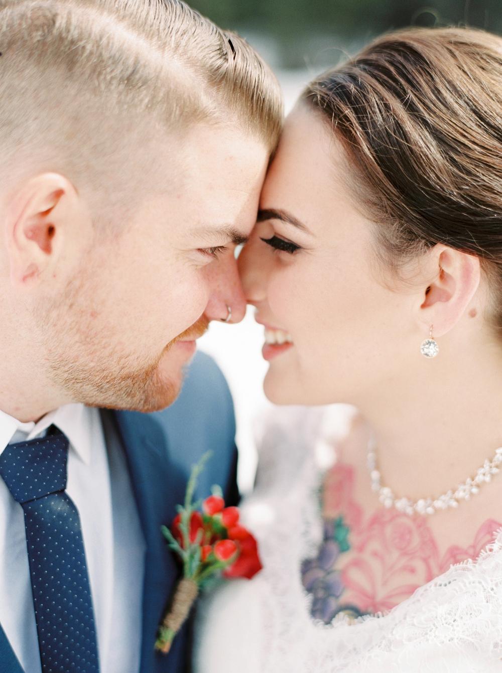 Emerald Lake Lodge Field British Columbia Elopement Photographers | Fine art film destination wedding photography | winter wedding