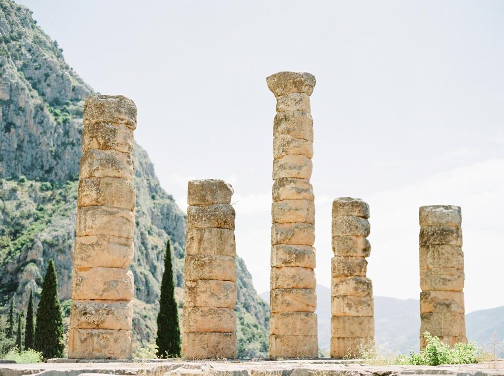 Delphi Ancient Greece Fine Art Film Travel Photography | Greece destination wedding photographers