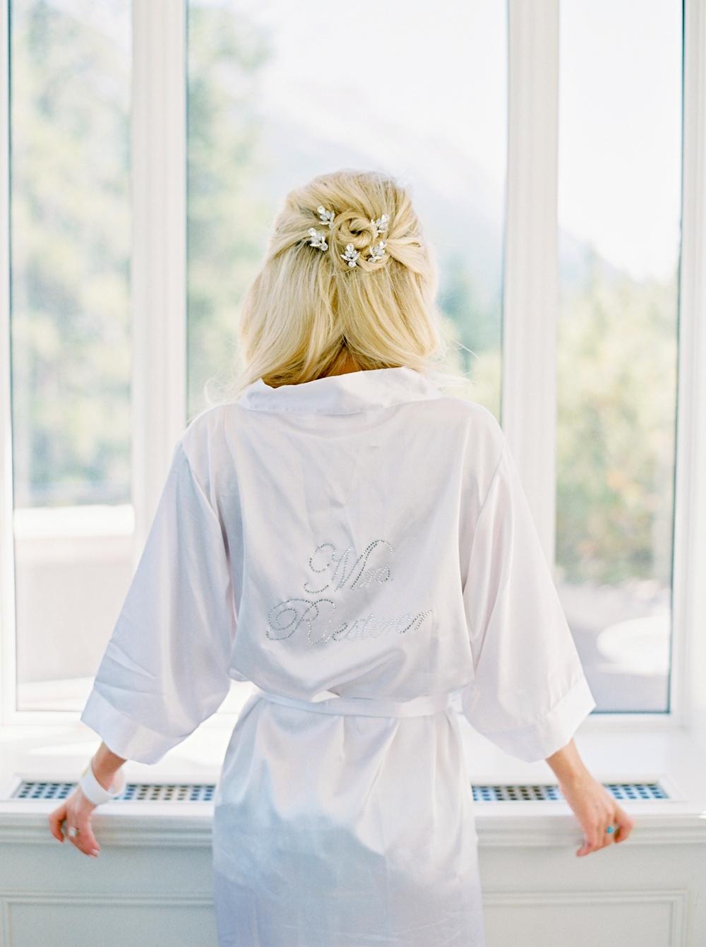 Bride Getting ready wedding | Banff Wedding Photographers | Justine Milton fine art film photography