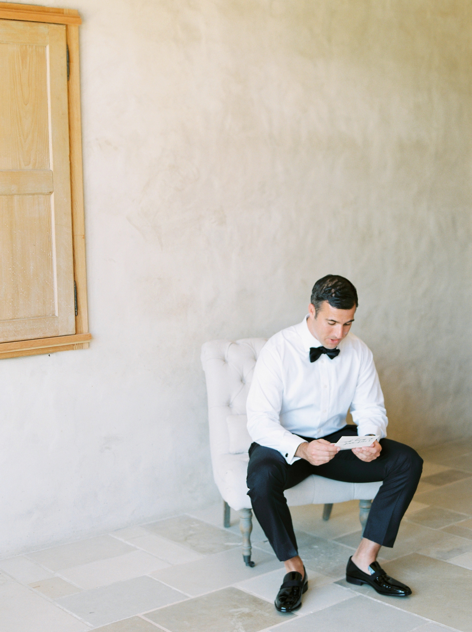Sunstone Winery and Villa | California Wedding Photographers | Santa Barbara Wedding Photography | Santa Ynez Wedding | Justine Milton Photographer | Fine Art Film | Groom Getting Ready