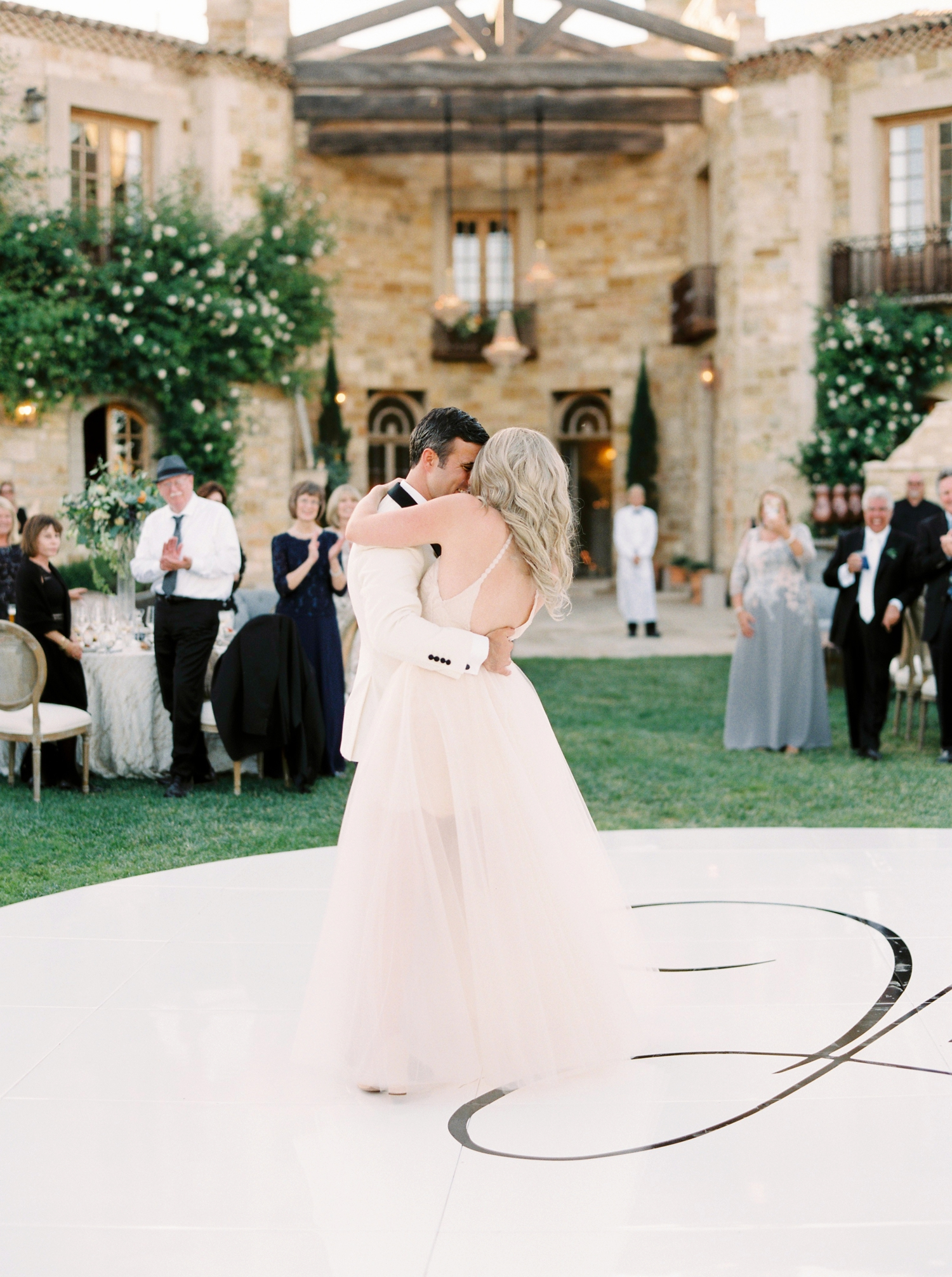 Sunstone Winery and Villa | California Wedding Photographers | Santa Barbara Wedding Photography | Santa Ynez Wedding | Justine Milton Photographer | Fine Art Film | Wedding Reception First Dance