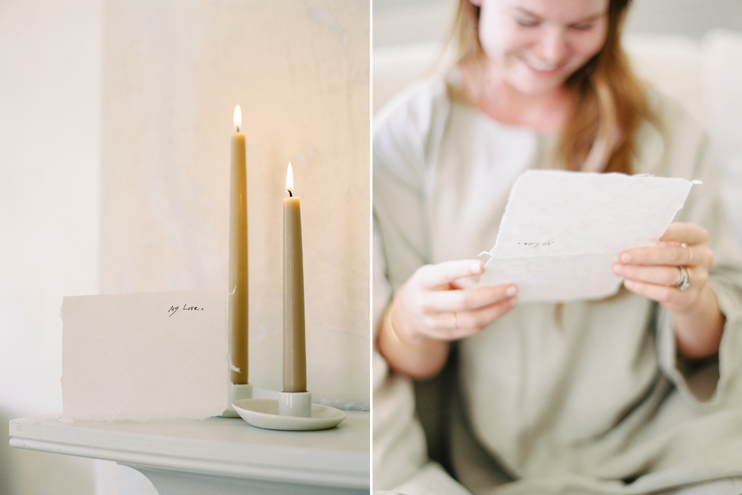 Charleston wedding photographer | anniversary session | fine art film photography | Calgary Wedding Photographers | Calgary couples photographer | Justine Milton Photography | letter | candle |