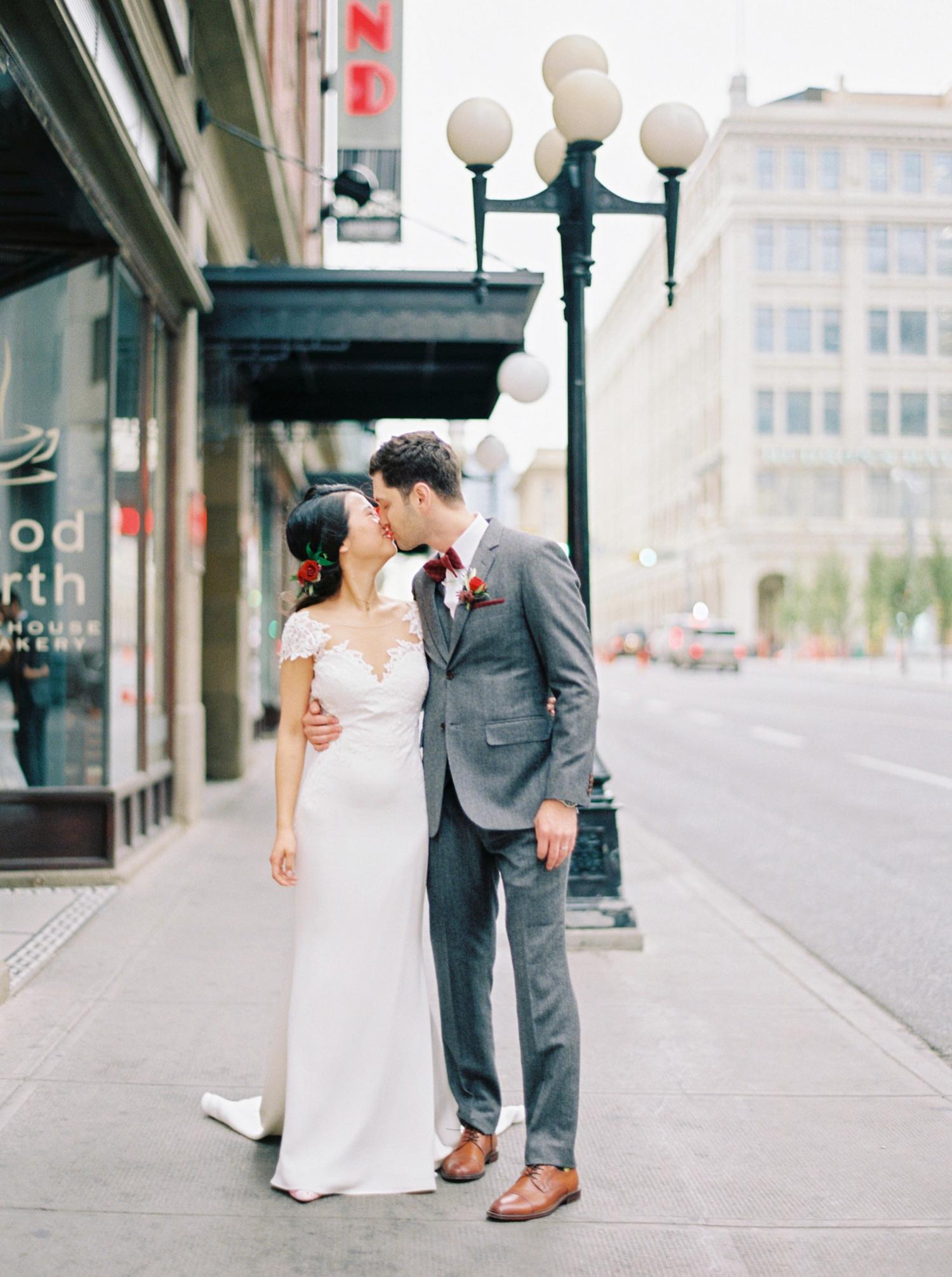 Calgary wedding photographer | fine art film photography | Calgary Wedding Photographers | Calgary couples photographer | Justine Milton Photography | downtown calgary | couples portrait